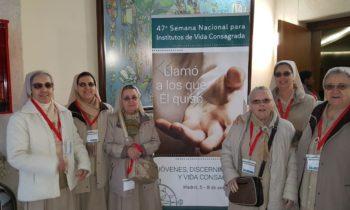 Participando en la 47 semana nacional para institutos de vida consagrada