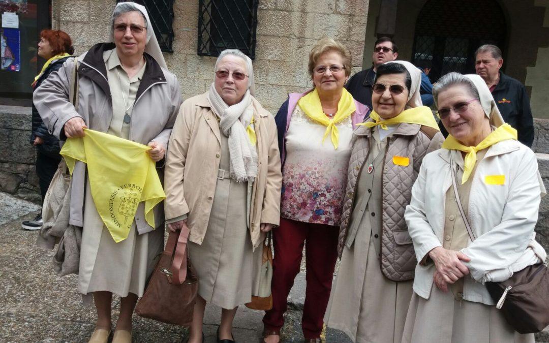 As Irmans da Comunidade de Burela peregrinan ao Santuario de Covadonga